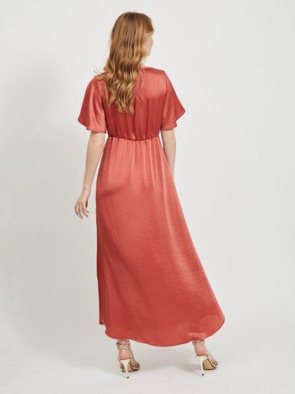 Vestido Longo Cetim Look Fashion