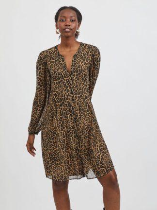 Vestido leopardo look fashion